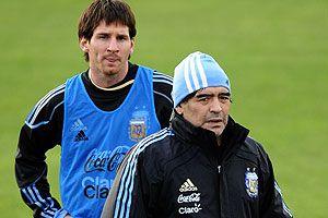 """Maradona: """"Messi va a ser el jugador que va a definir el partido"""""""