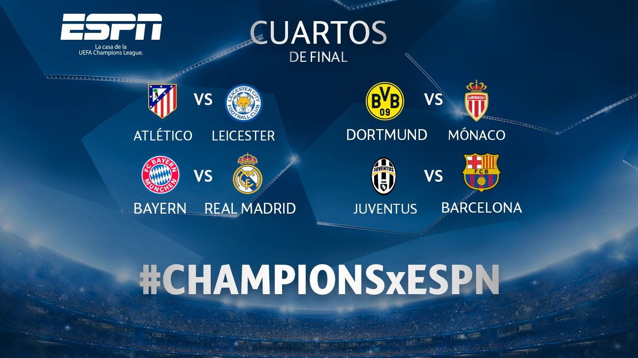 Se sortearon los cuartos de final de la uefa champions league for Cuartos de final coac 2017