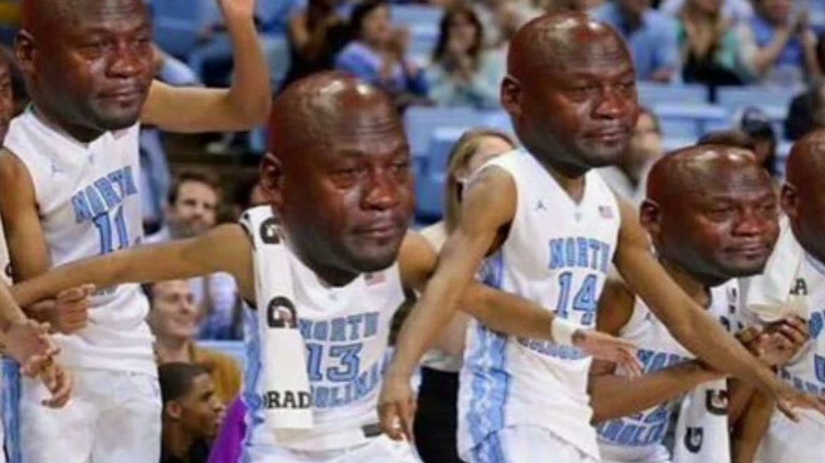 Crying Jordan takes over after UNC's last-second loss ...