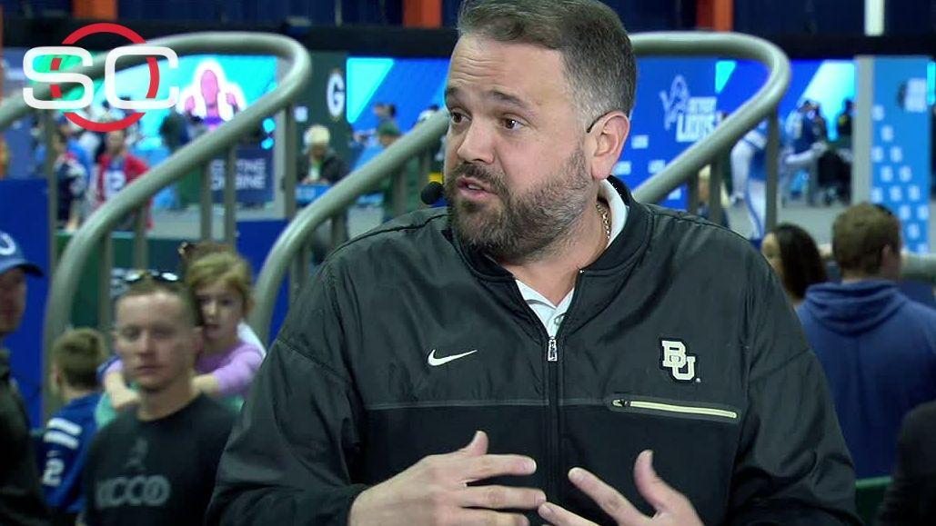 Baylor coach Rhule supports Mulkey - ESPN Video