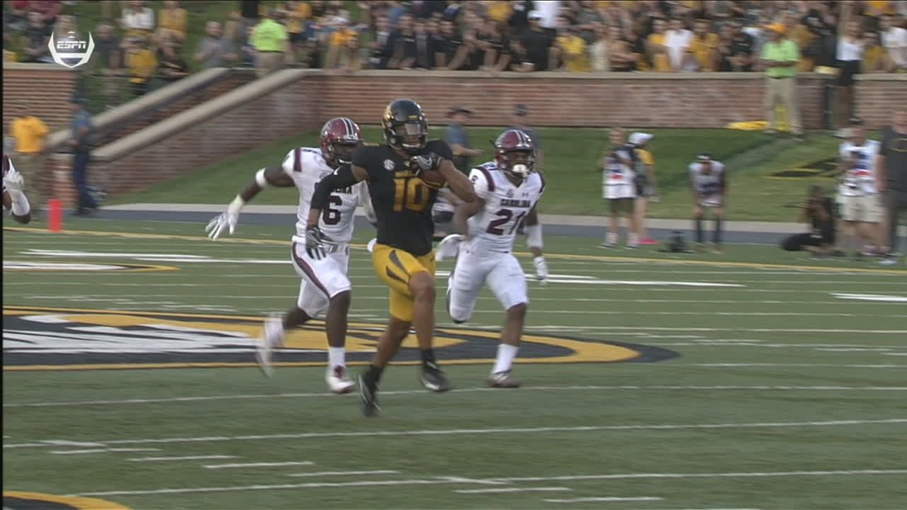 lock hits reese for missouri 39 s 1st td. Black Bedroom Furniture Sets. Home Design Ideas
