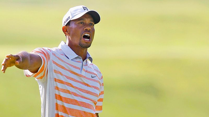 Tiger trails Bill Haas by 10 strokes