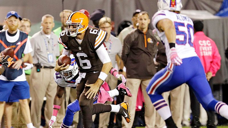 Browns' Brian Hoyer done for year