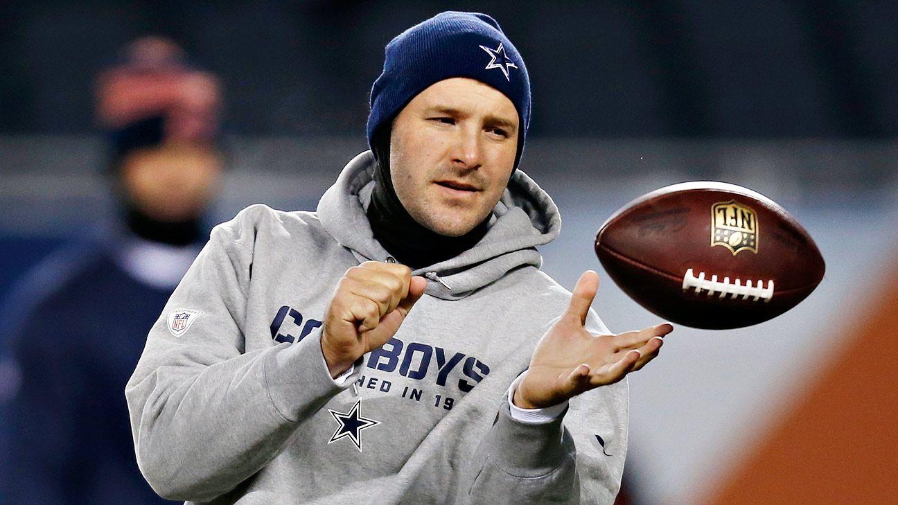 Cowboys fans cheer Tony Romo after Prescott win ...  Cowboys fans ch...