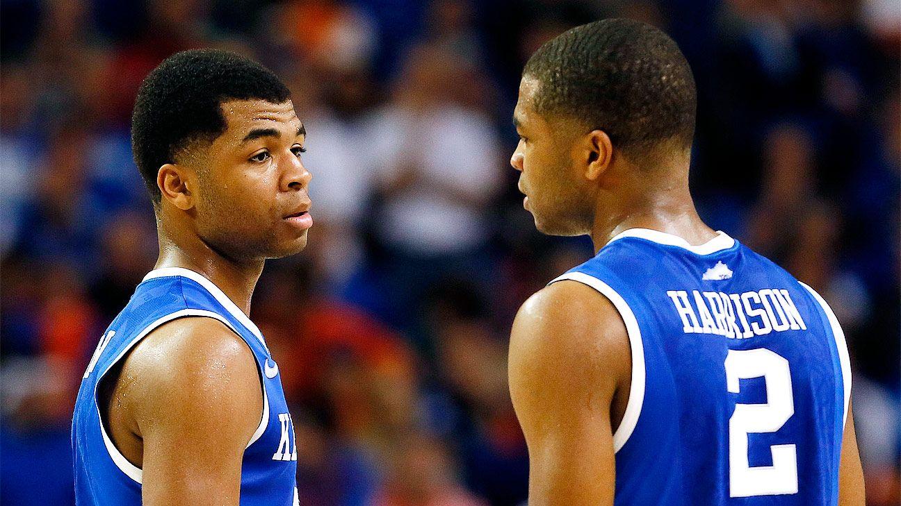 2014 15 Kentucky Wildcats Men S Basketball Team: Freshman Twins Aaron Harrison, Andrew Harrison To Stay