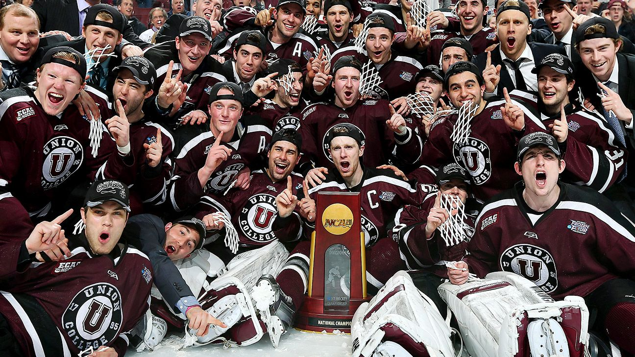 Union wins first NCAA hockey title by beating No. 1 seed ...