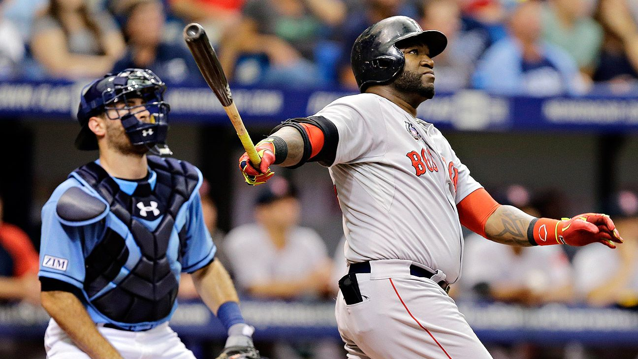 David Ortiz bat flip at center of flap