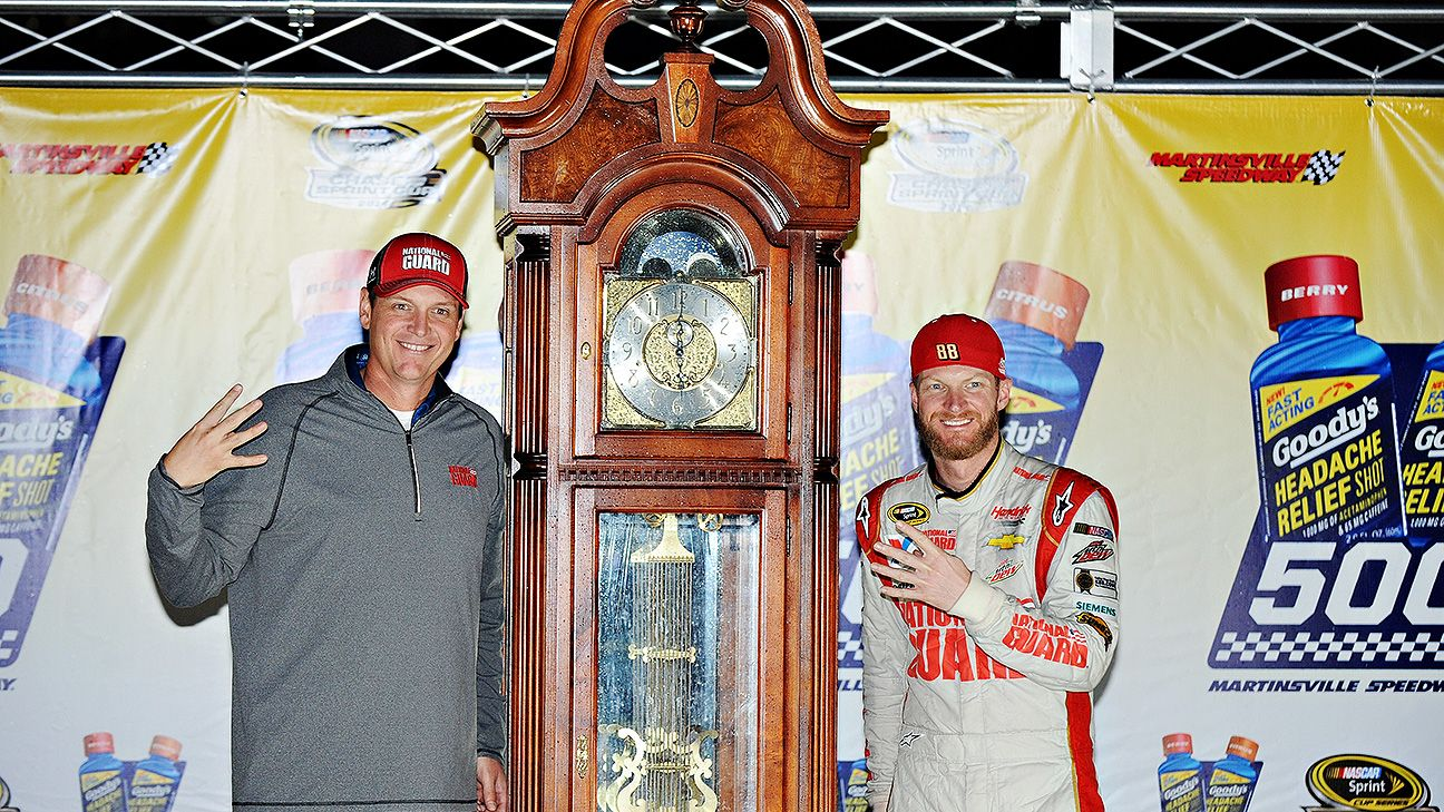 Earnhardt Jr. finally gets his clock
