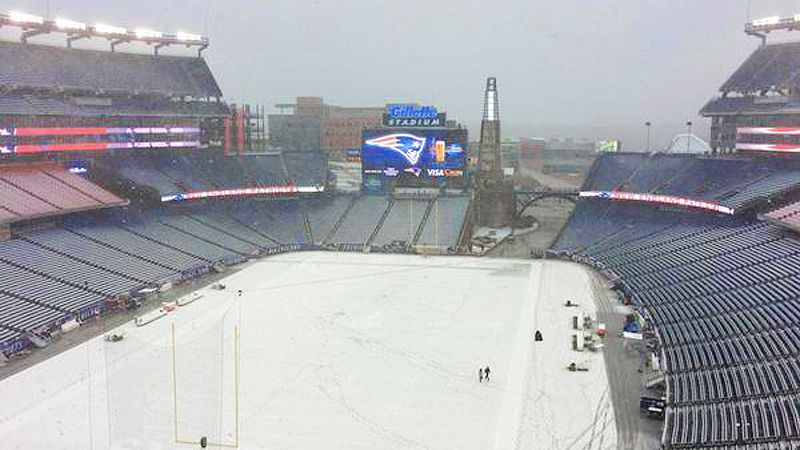 Wintry Mix Hits Gillette Stadium Ahead Of Game Between