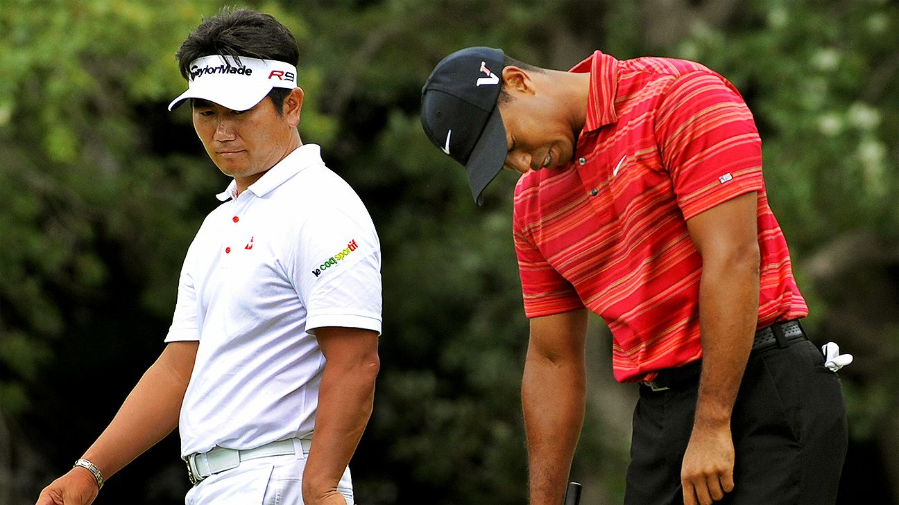 after y e  yang took down tiger woods at the 2009 pga