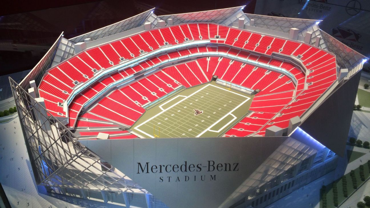 Mercedes benz named as sponsor for atlanta falcons 39 new for Will call mercedes benz stadium
