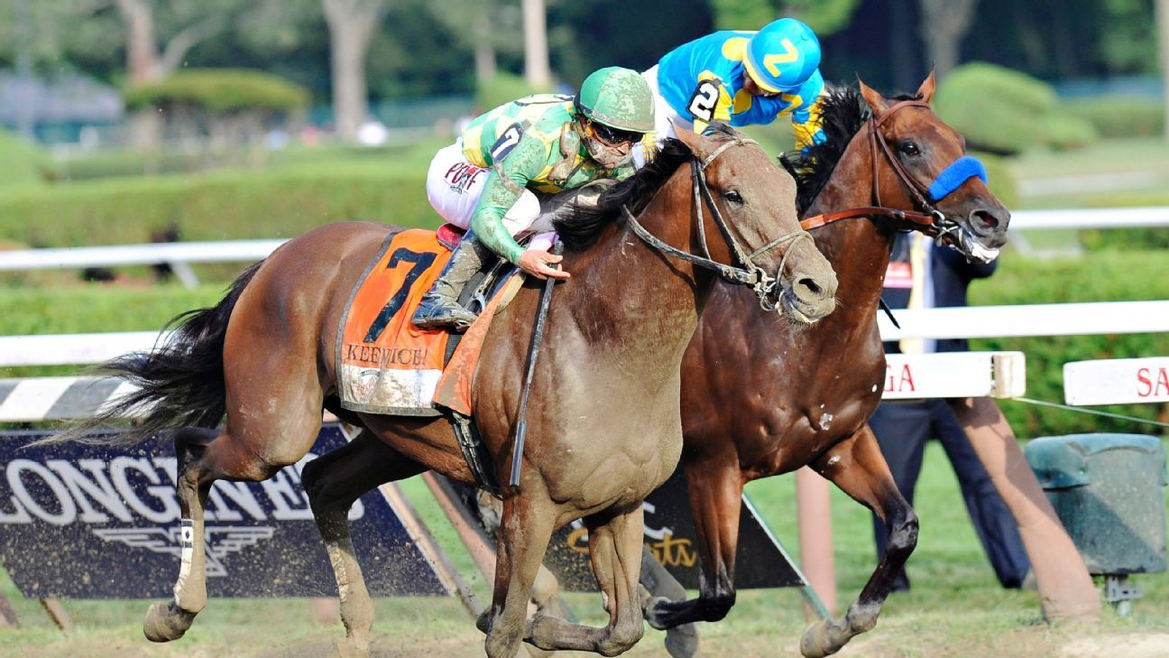 American Pharoah upset by Keen Ice in Travers Stakes at ...