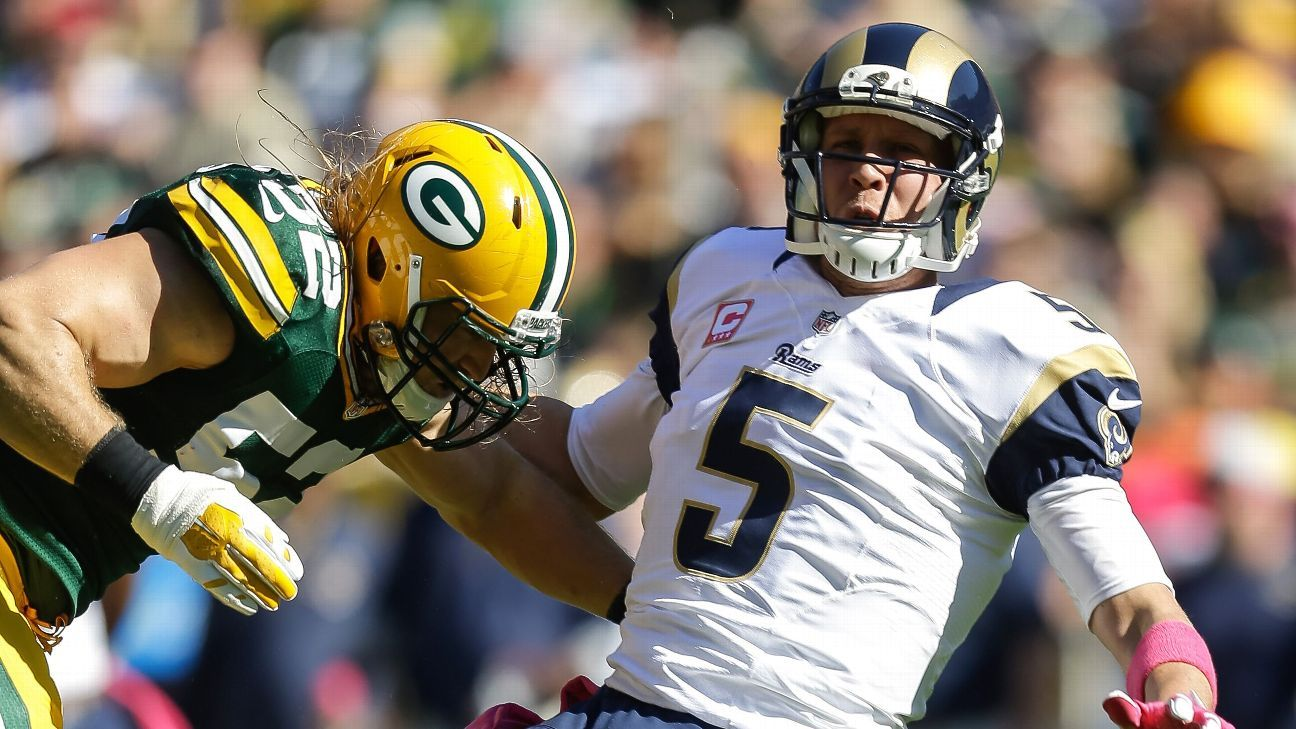 Packers LB Clay Matthews fined $17,363 for hit on Rams QB Nick Foles