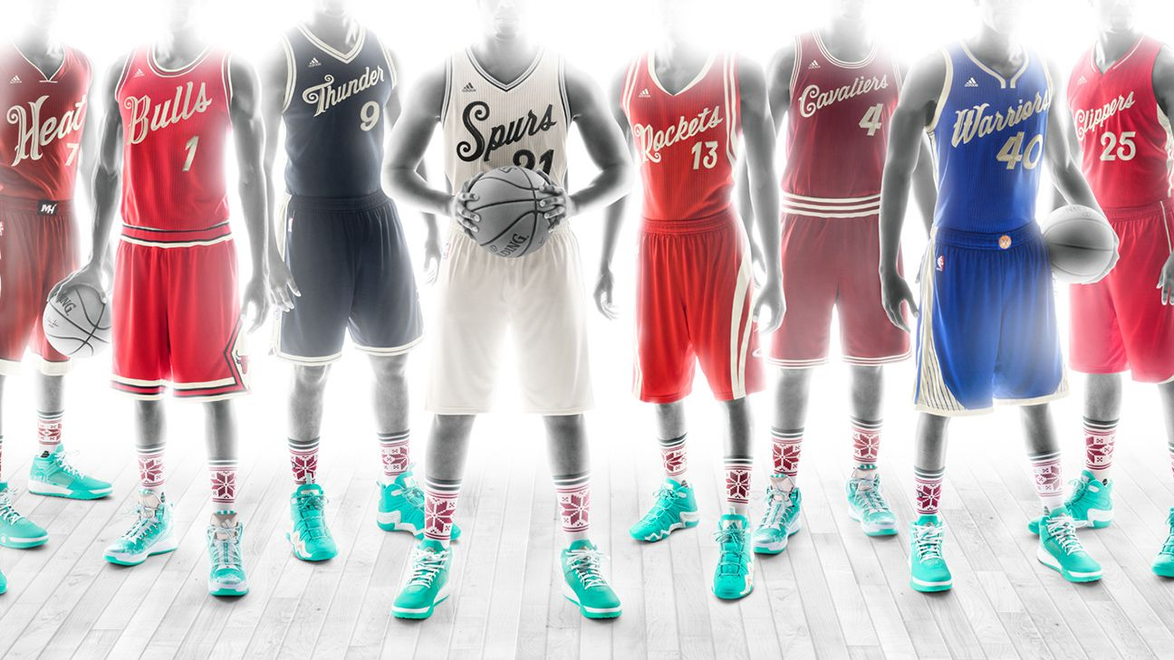 nba unveils uniforms for christmas day games - Christmas Day Games