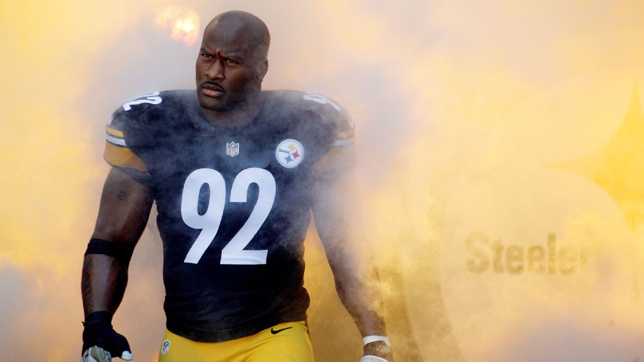 Steelers LB Harrison will return for 14th season