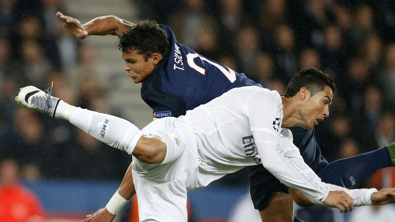 Image result for Cristiano Ronaldo vs. Thiago Silva