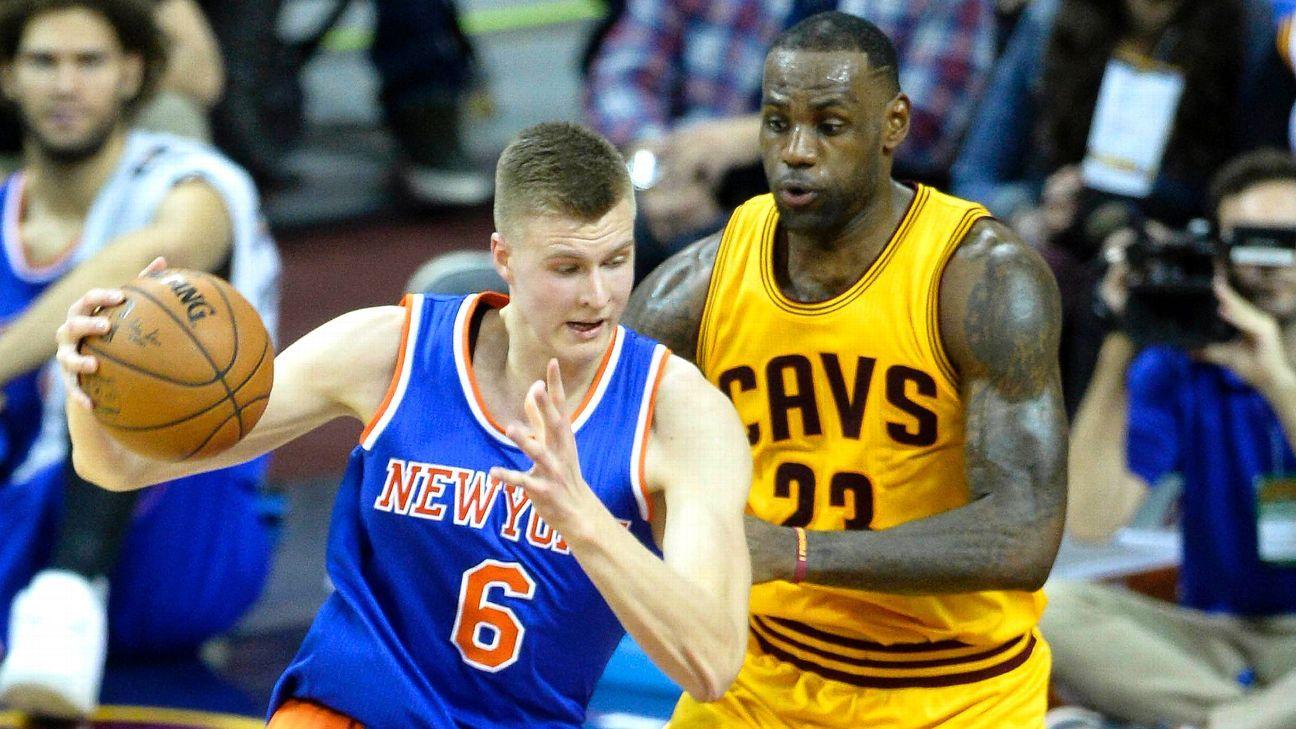 New York Knicks rookie Kristaps Porzingis fourth in jersey sales