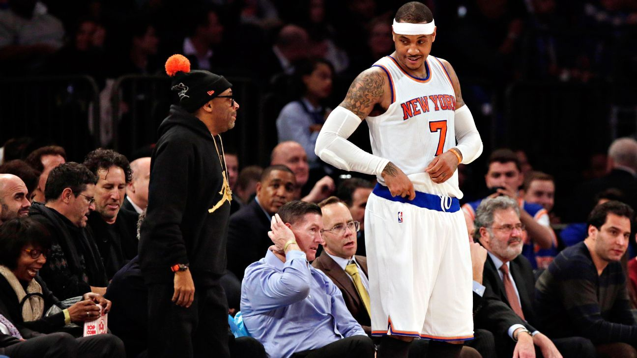 Apology, statement on heckler was owner's idea, Carmelo Anthony says
