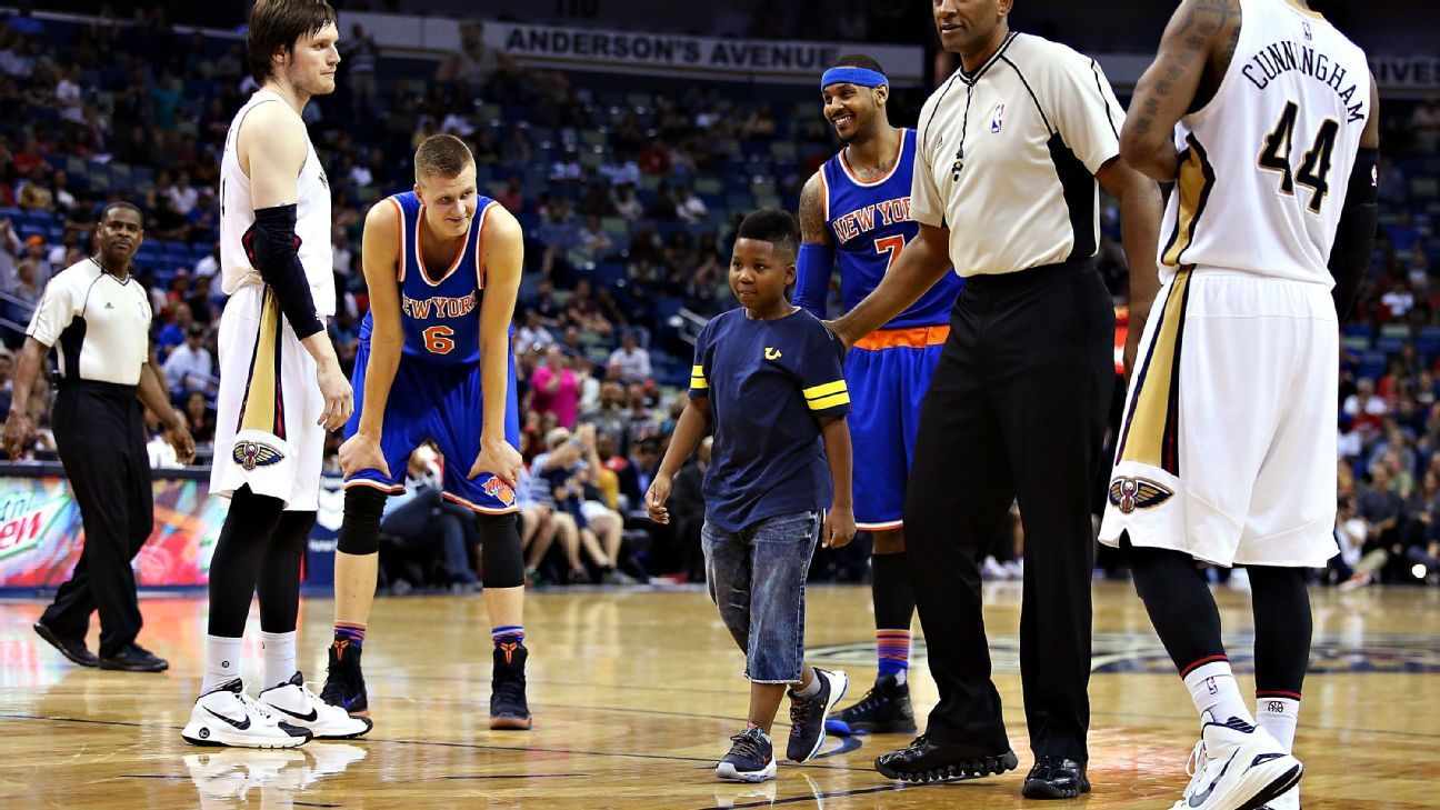 Carmelo Anthony of New York Knicks 'shocked' by child who ...