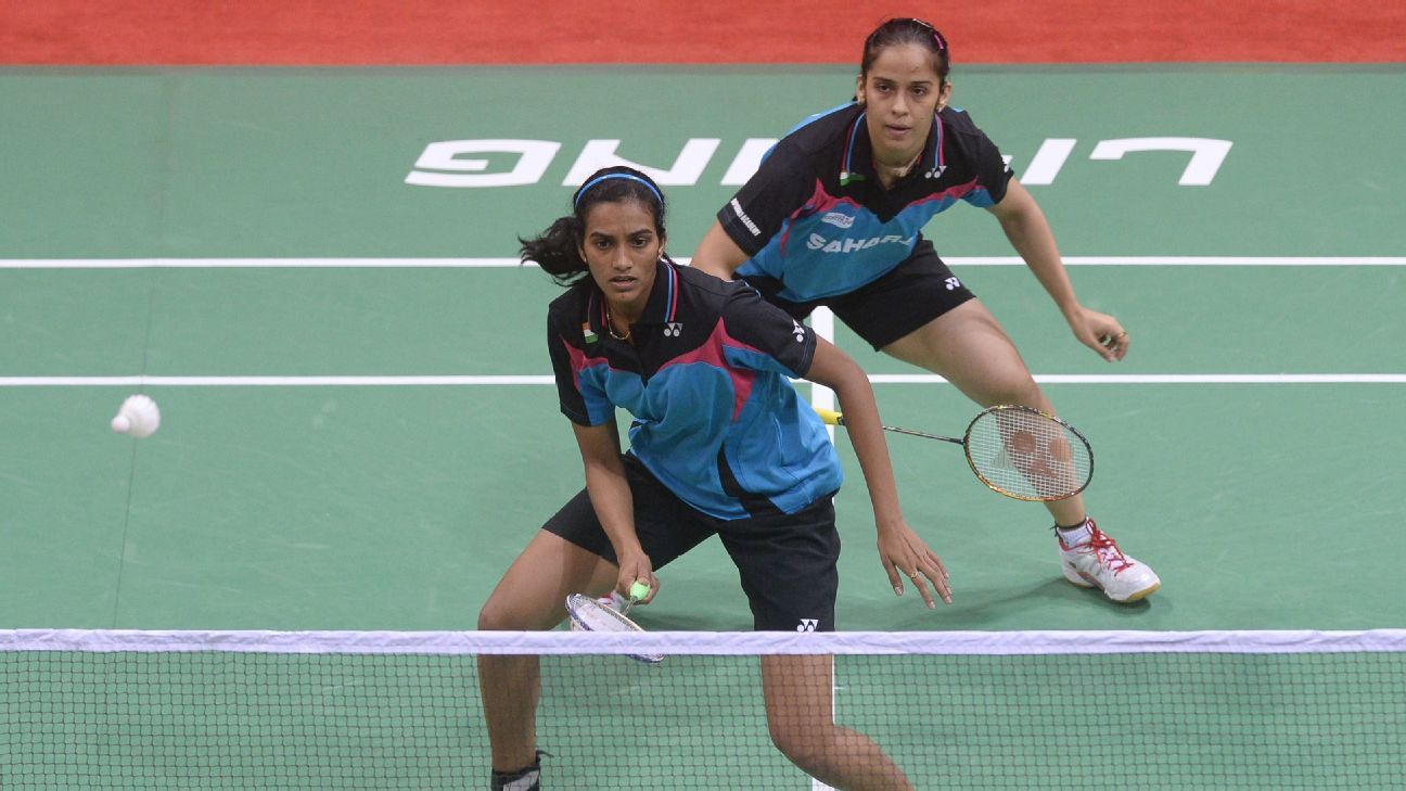 Resultado de imagen de espn saina nehwal and pv sindhu in national badminton