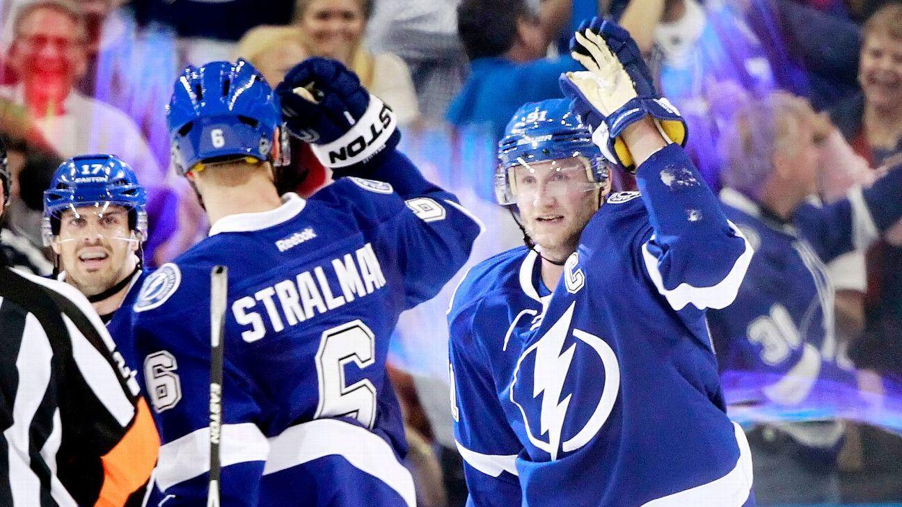 Steven Stamkos, Anton Stralman of Tampa Bay Lightning eye returns vs. Pittsburgh Penguins