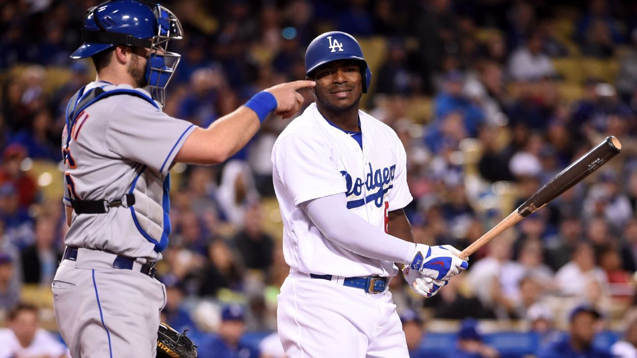 An 'anxious' Yasiel Puig spinning his wheels for Los Angeles Dodgers - Los Angeles - Dodgers Report-  ESPN