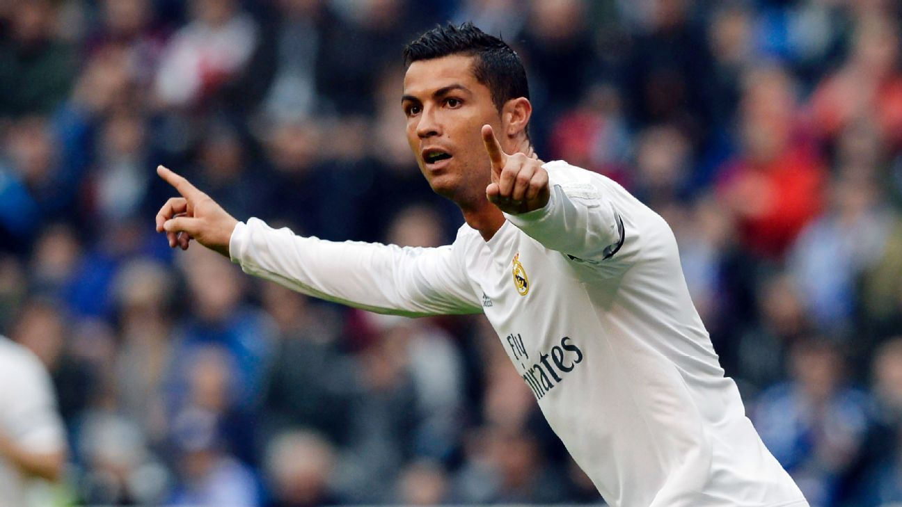 Cristiano Ronaldo hits 50-goal mark for sixth consecutive year for Real Madrid