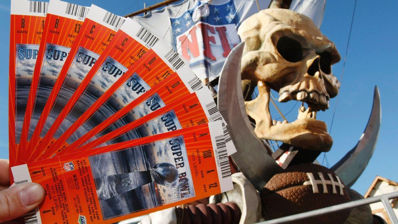 nfl partner selling super bowl ticket packages on open market