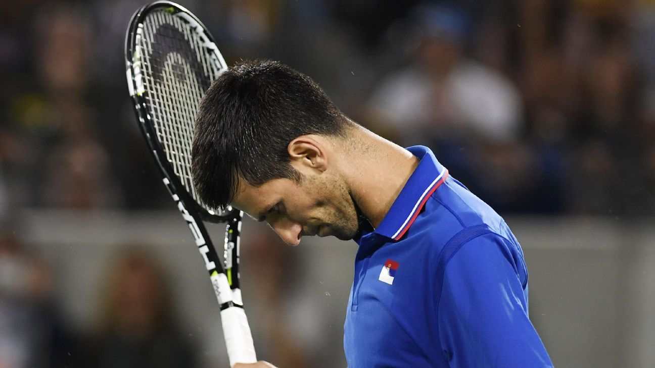 Novak Djokovic unraveling at the worst of times