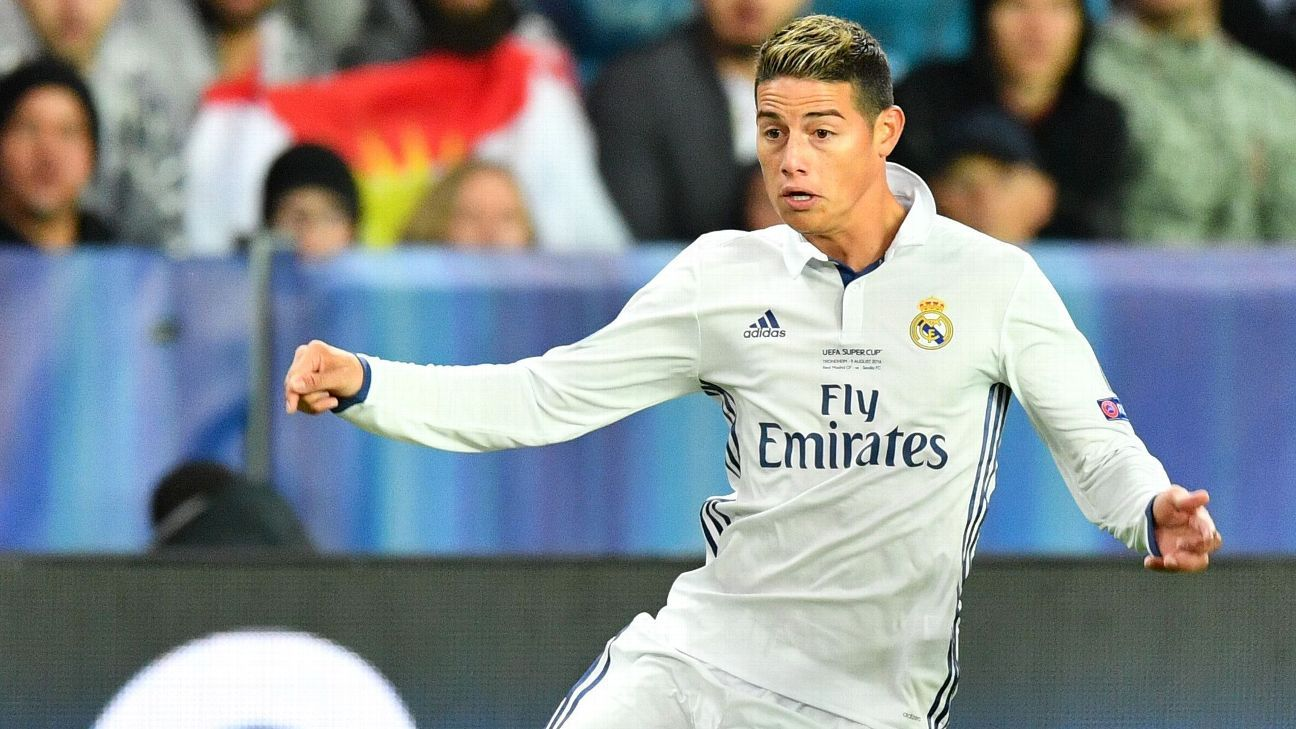 Chelsea negotiating James Rodriguez's €70m departure from Real Madrid