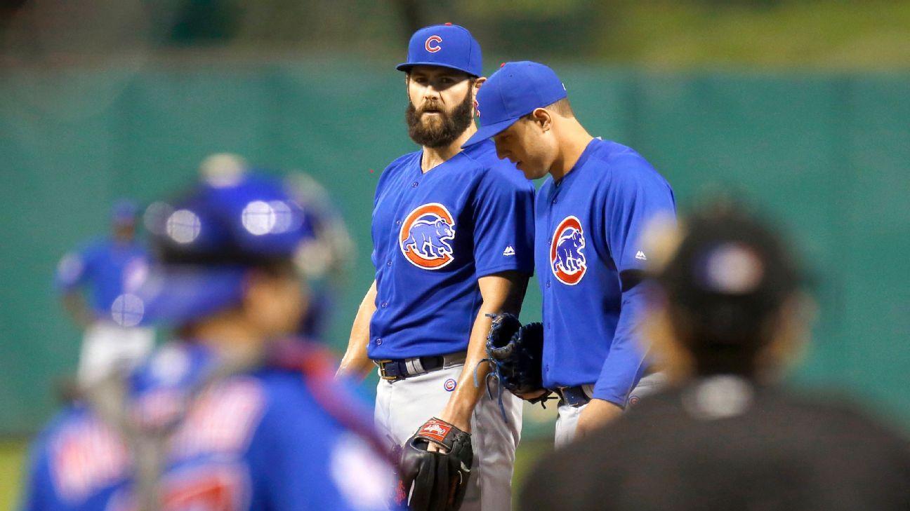Chicago Cubs' Jake Arrieta gets hit hard in his regular season finale - Chicago Cubs Blog- ESPN