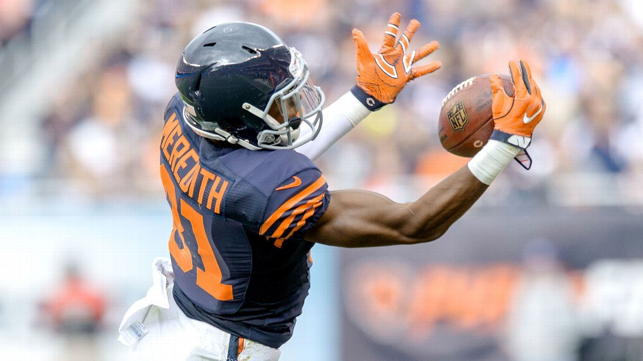The Saints added wide receiver Cameron Meredith on Wednesday when the Bears declined to match New Orleans' offer sheet.