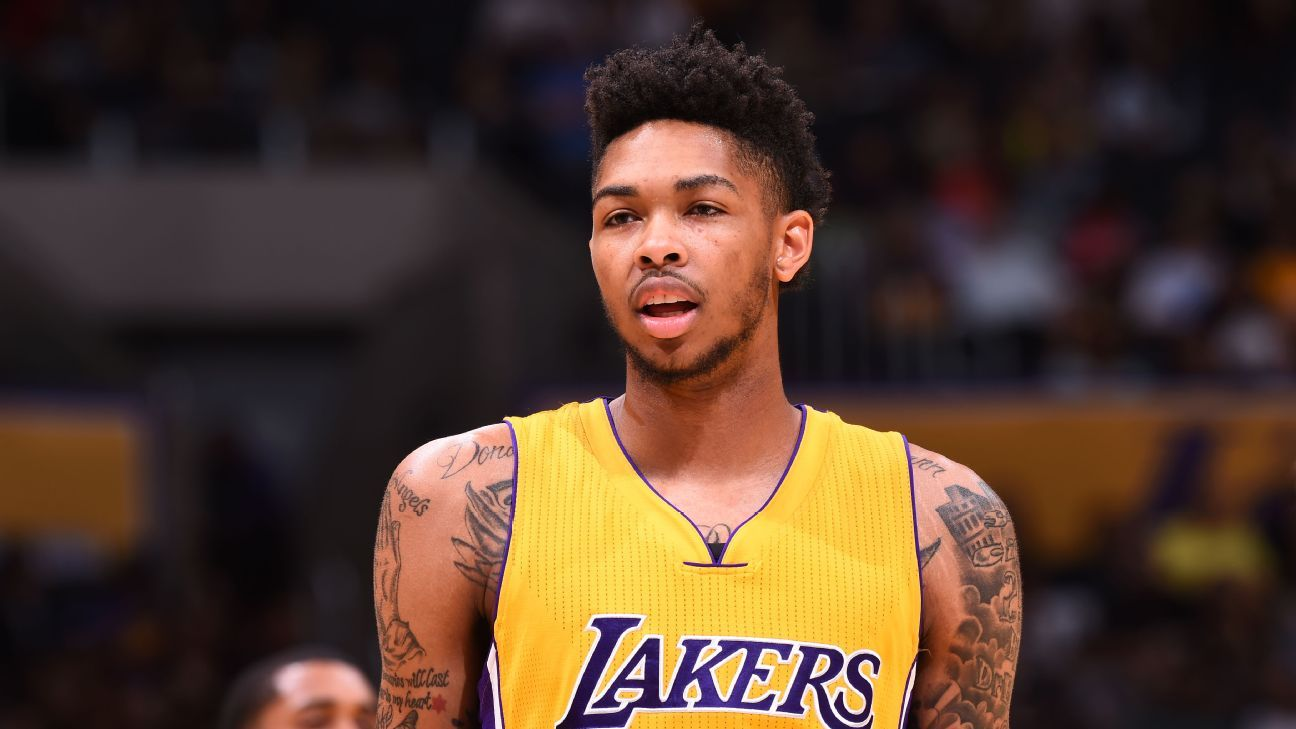 Brandon Ingram of Los Angeles Lakers practices, hopes to ...