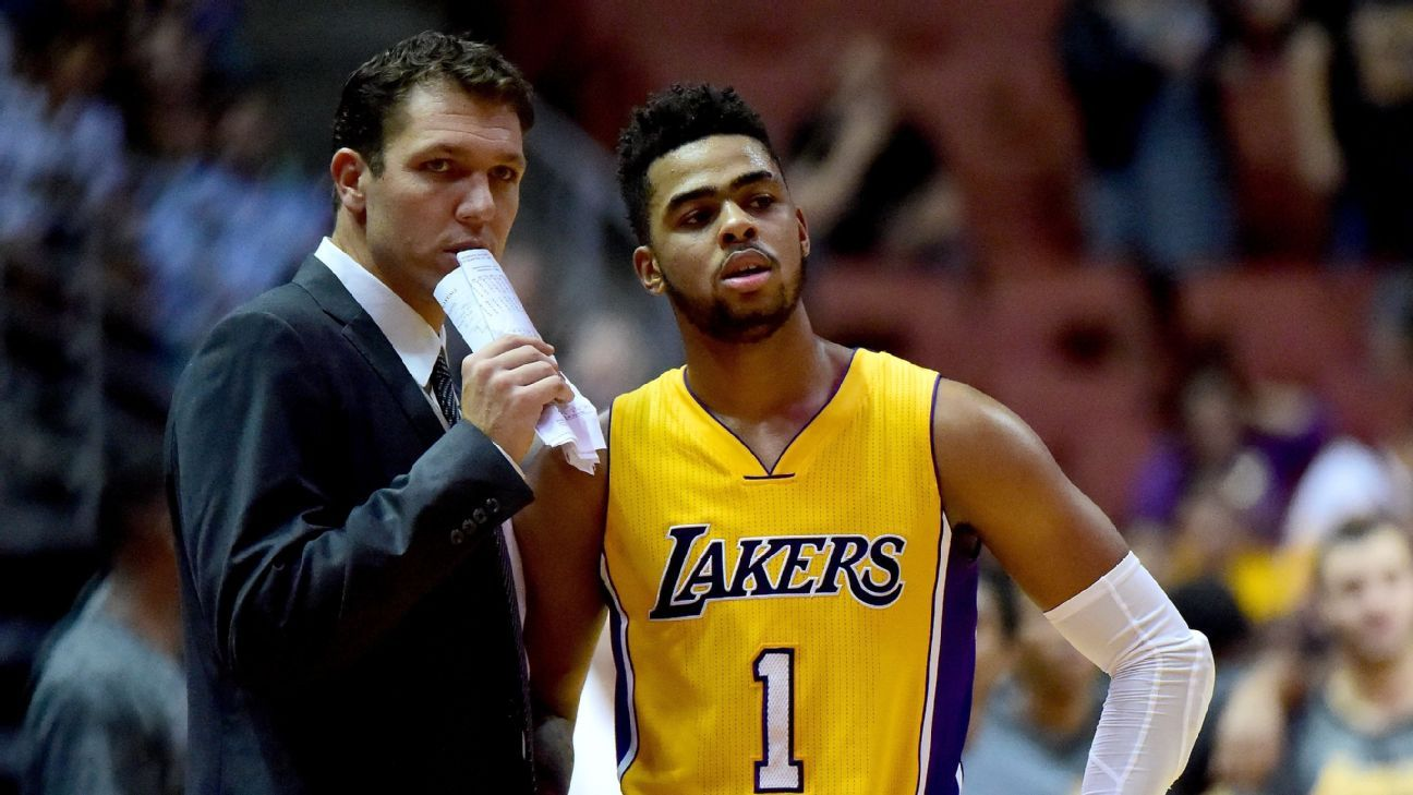 D'Angelo Russell of Los Angeles Lakers to miss 2-3 weeks ...