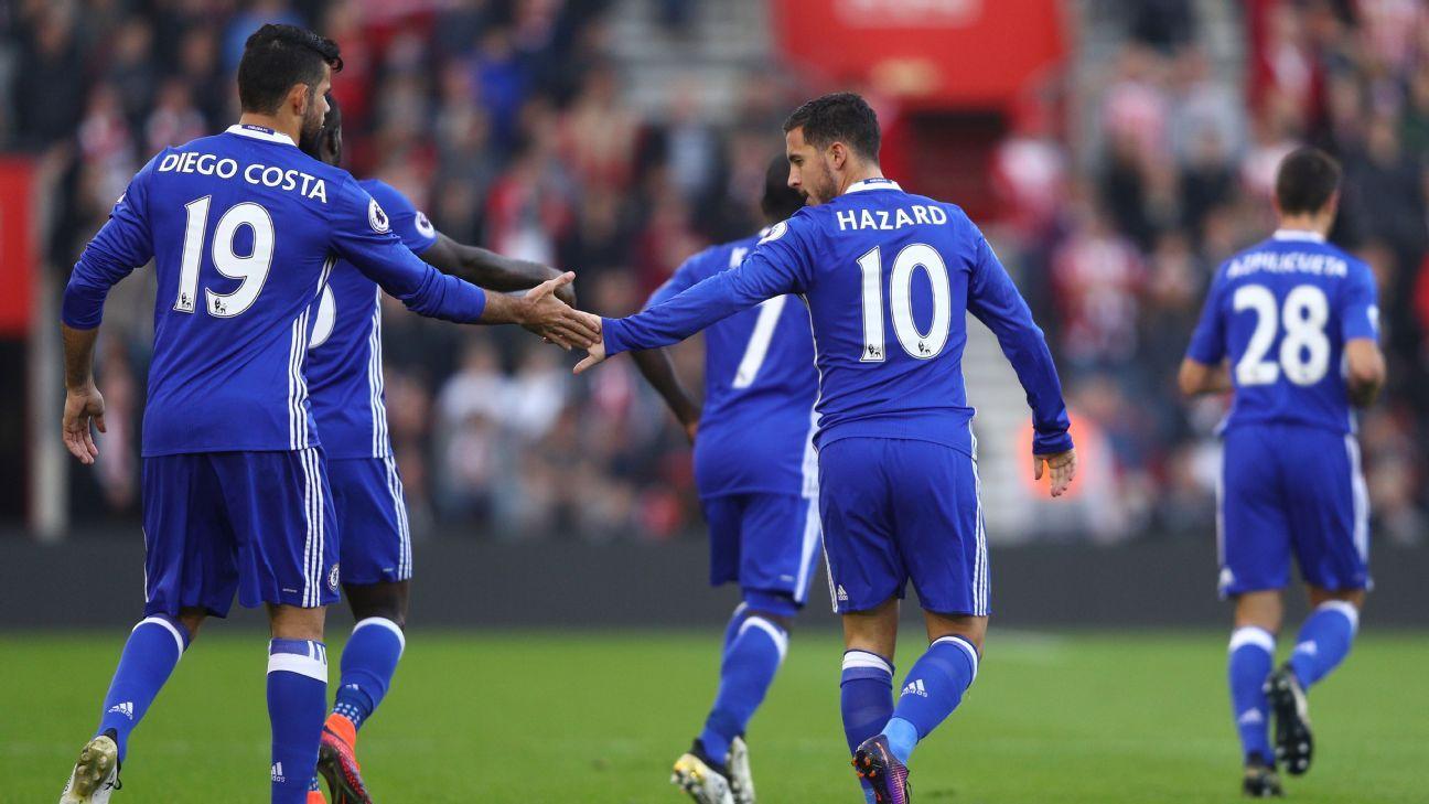 Eden Hazard and Diego Costa fitness to keep Antonio Conte awake at