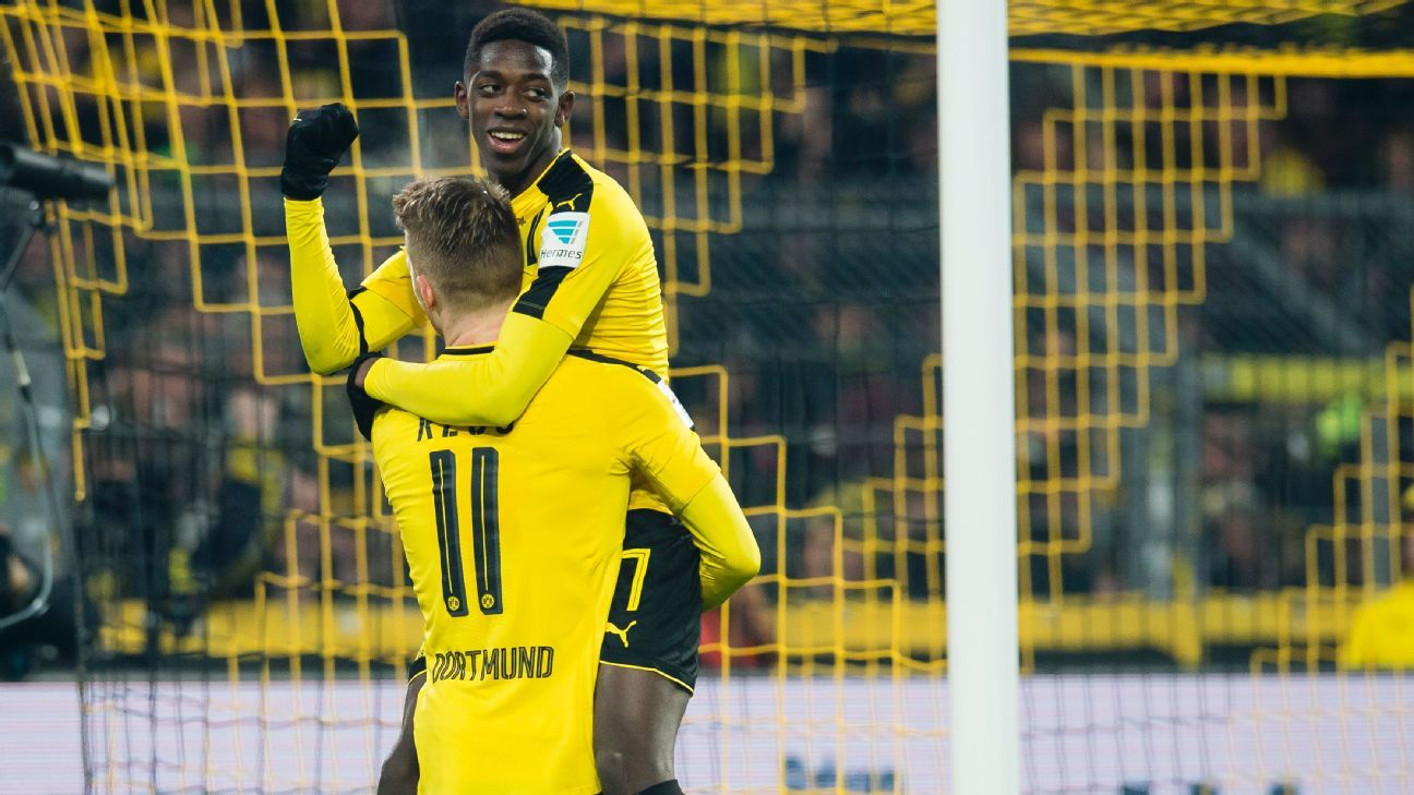 Ousmane Dembele had one of his best games for Dortmund Tuchel