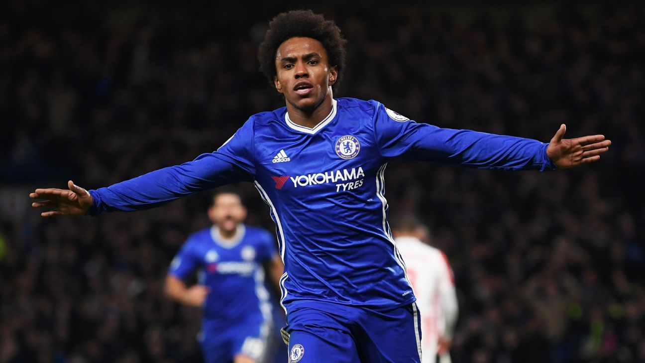 Jose Mourinho tar s Chelsea s Willian for Man United move sources