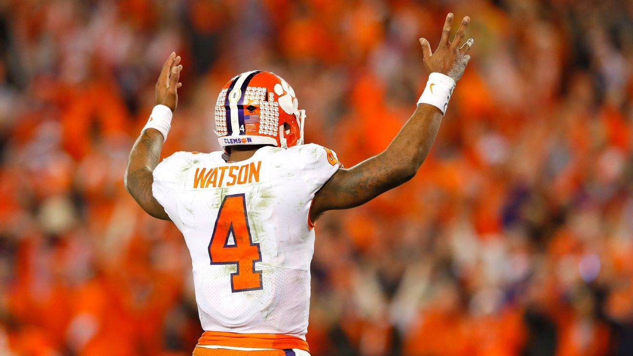 2017 NFL draft prospects for Clemson Tigers Deshaun Watson, Mike Williams, Jordan Leggett, Wayne Gallman