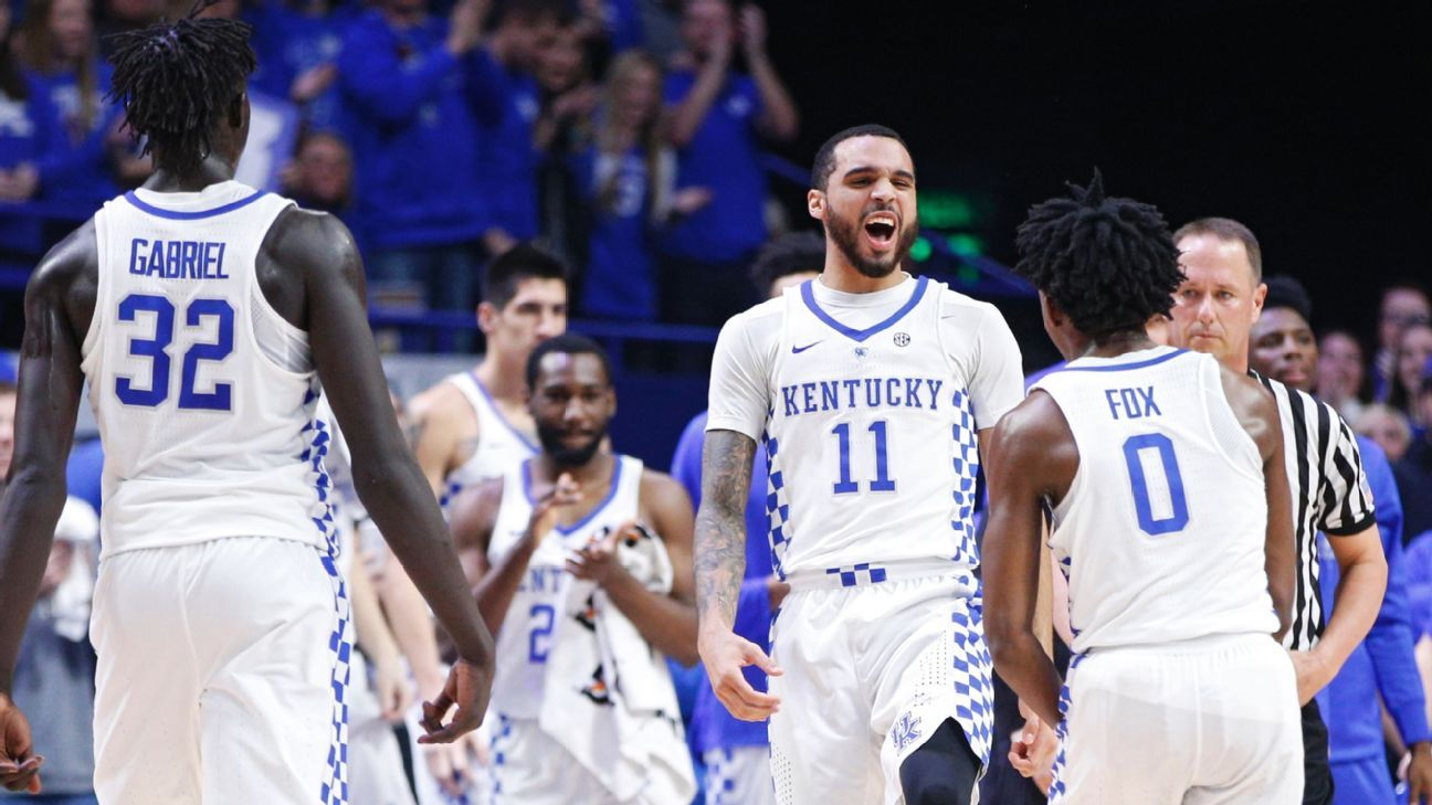 College Basketball Can Anyone Beat The Kentucky Wildcats: College Basketball 2017 Espn Picks Kentucky Wildcats To