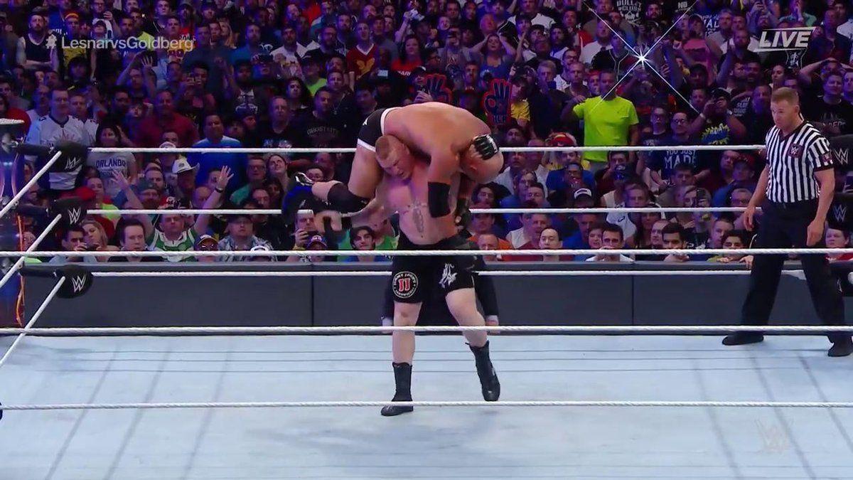 Brock Lesnar defeats Goldberg to win Universal Championship