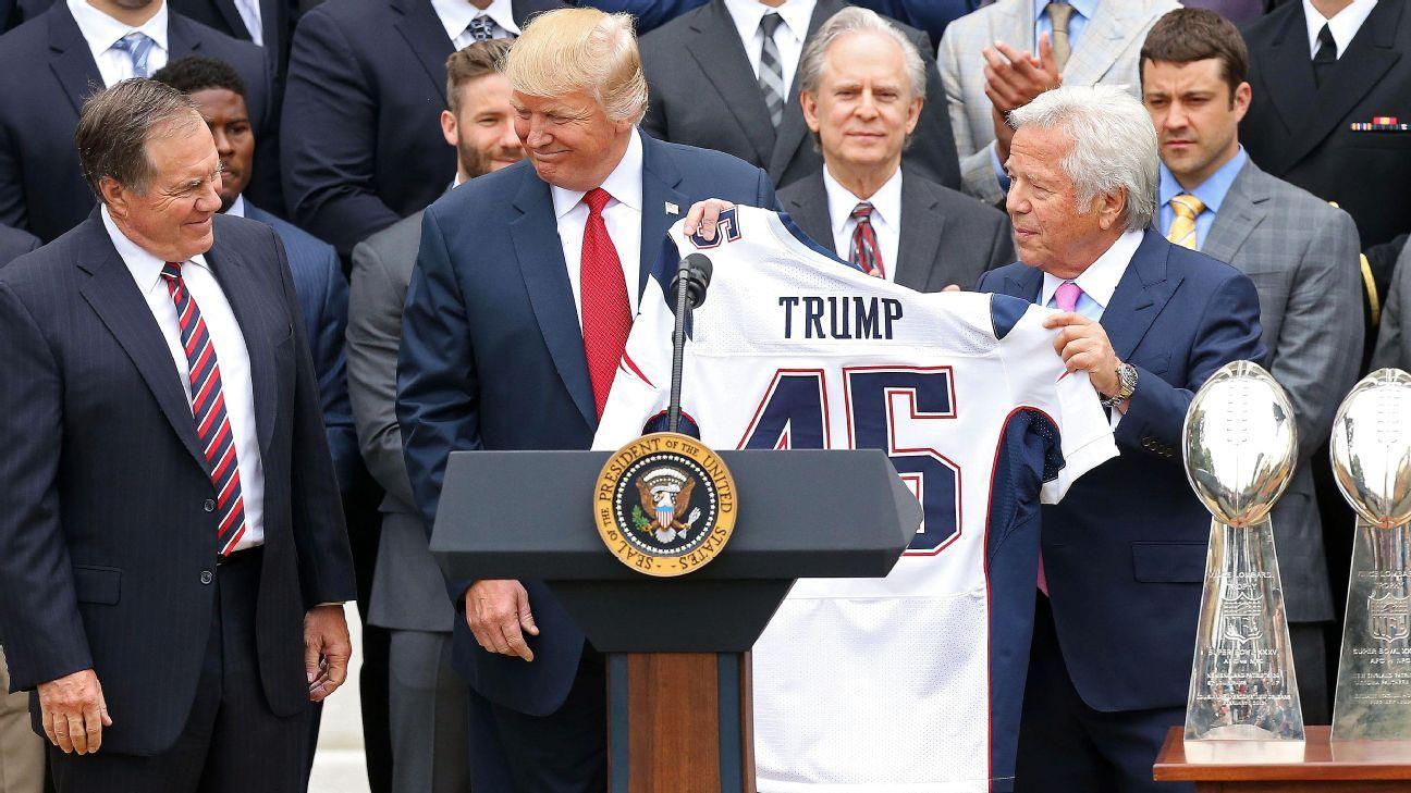 New England Patriots give President Donald Trump his own Super Bowl LI ring