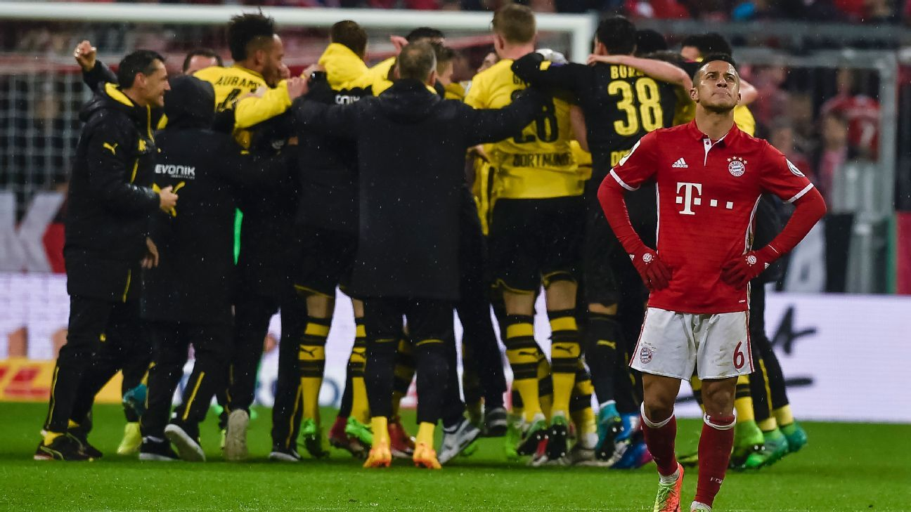 Dortmund 39 s character building win exposes bayern 39 s need - German league fixtures results table ...