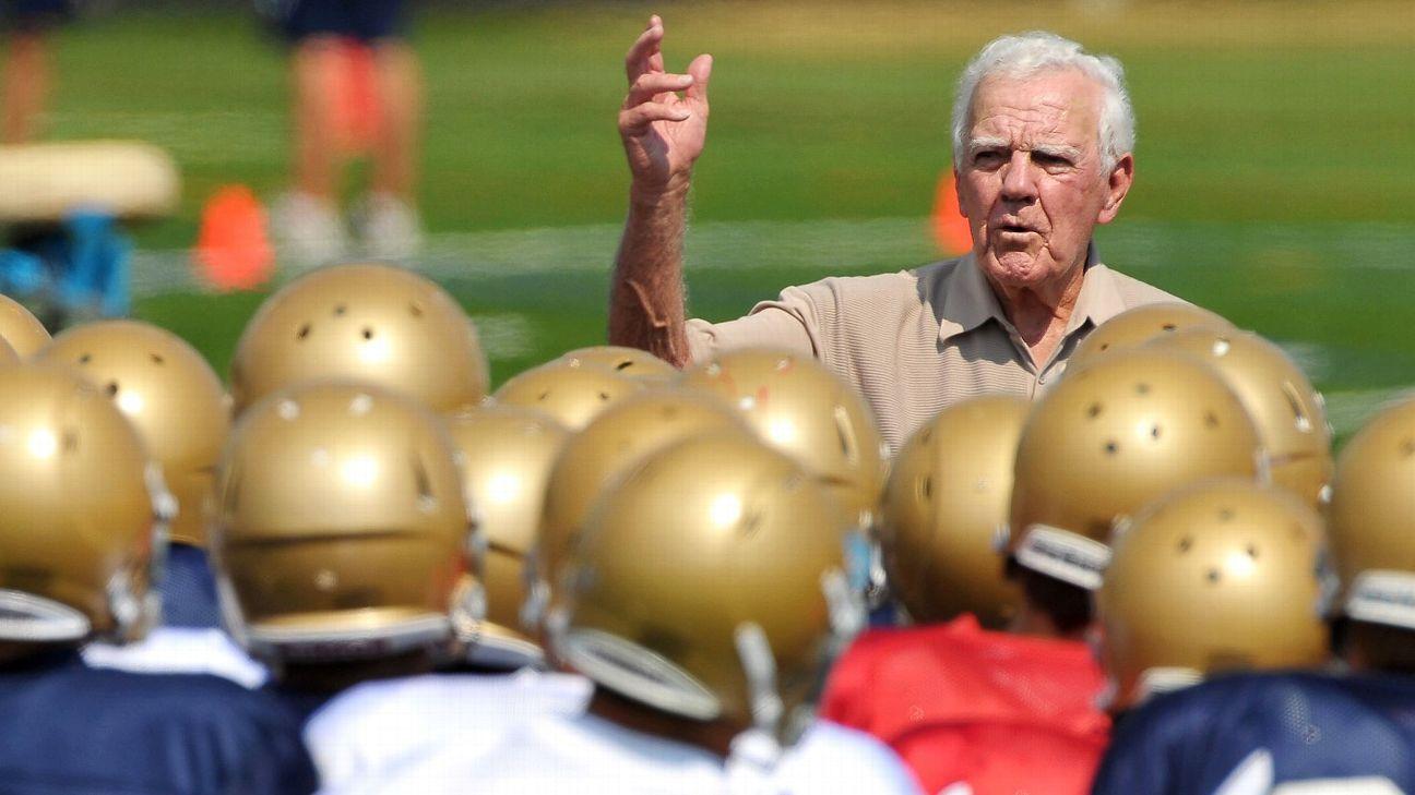 Notre Dame coach Ara Parseghian's legend won't soon be forgotten