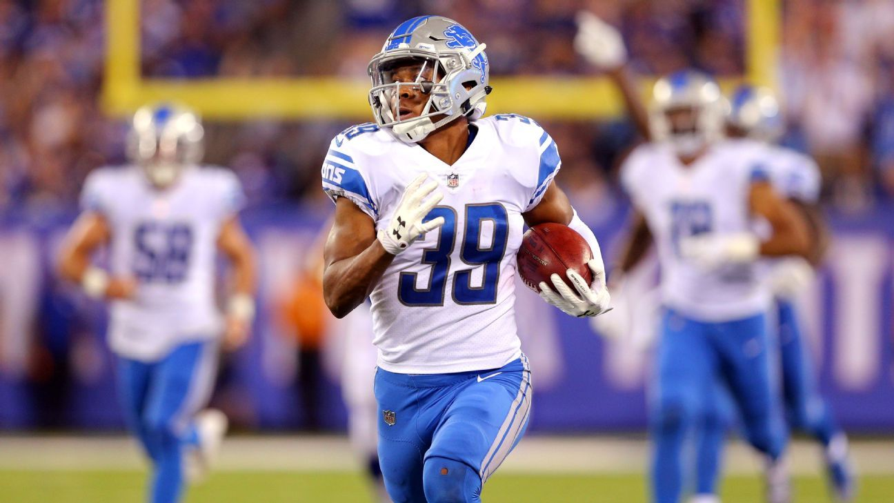 The Lions placed star kick returner Jamal Agnew on IR, but he could return later this season if Detroit is still contending for the playoffs. Lions guard T.J. Lang is improving since suffering a concussion last month and could return in Week 7.