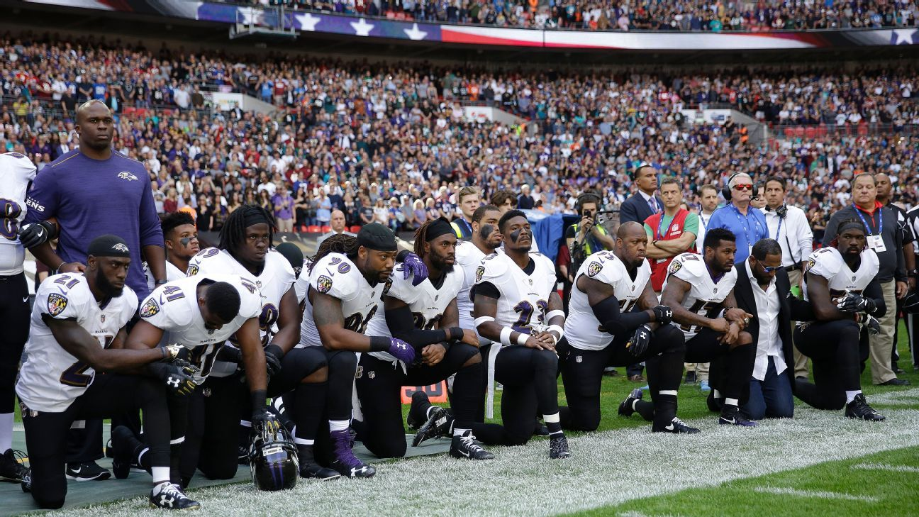 NFL players who protested during the national anthem in Week 3