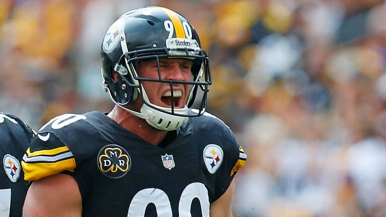 Steelers linebacker T.J. Watt,  the league co-leader in sacks, was fined $20,054 for a hit on Falcons QB Matt Ryan in Sunday's game, a source told ESPN.