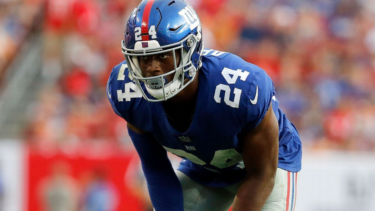 New York Giants cornerback Eli Apple is inactive for Thursday night's game against the Washington Redskins.