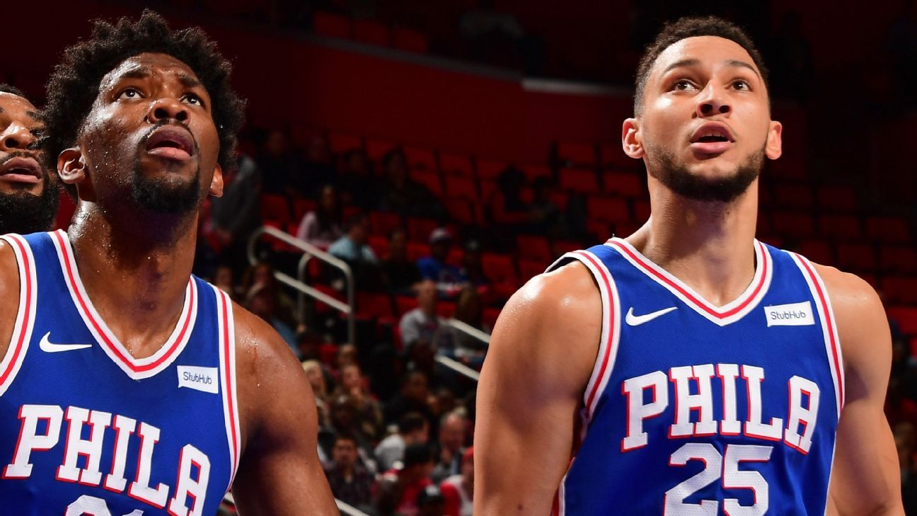 NBA player rankings: Embiid, Simmons challenging the NBA's best