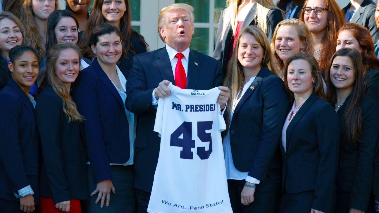 President Donald Trump Welcomes 18 Ncaa Championship Teams