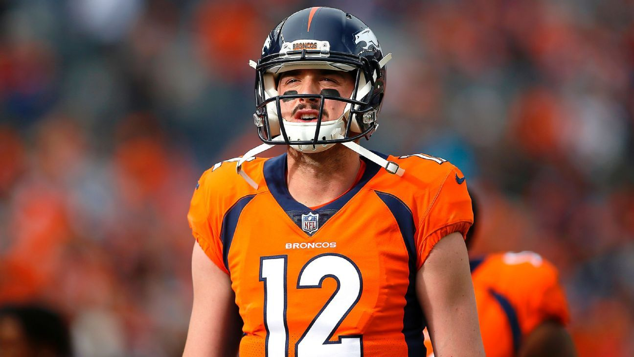 The Broncos waived former first-round pick Paxton Lynch after claiming quarterback Kevin Hogan off waivers Sunday, a source told ESPN's Adam Schefter.